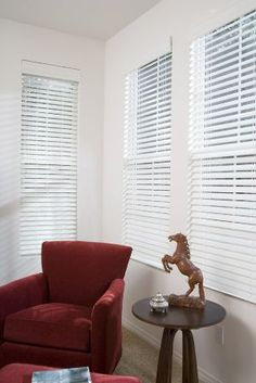 Faux Wood Blinds White