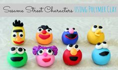 Sesame Street characters using polymer clay. Don't they just make you smile?
