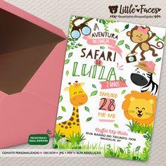 Convite Aniversário Safari Menina