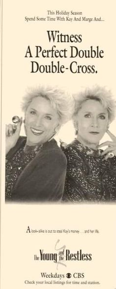 Jeanne Cooper played duel rolls as Katherine and Marge.