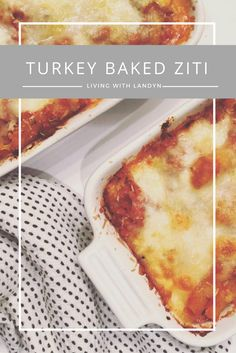 A healthy version of everyone's favorite Italian dish, Baked Ziti.  This turkey baked ziti is a family favorite and an easy week night recipe.