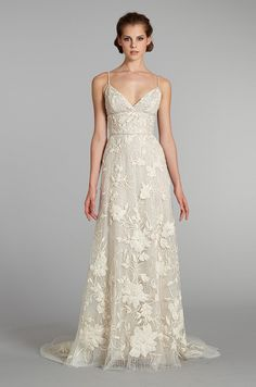 A vintage-inspired #wedding dress from Lazaro, Fall 2012