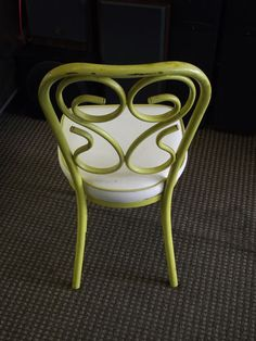 2 Vintage Yellow 1970's Chromodern Number 12 Another Creation Kitchen Chairs | eBay
