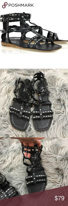 Belle by Sigerson Morrison studded gladiator In excellent condition, only real wear to the bottoms Belle by Sigerson Morrison Shoes Sandals