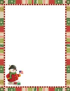 25f7ebd240fd Patriotic Snowman Christmas Letterhead Christmas Stationery Holiday  Stationery Christmas Letter Template