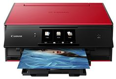 Canon TS9020 Wireless All In One Photo Printer Copier Scanner Mobile and Tablet Printing AirPrintTM Google Cloud Print Compatible CDDVD Printing Red *** Read more reviews of the product by visiting the link on the image.(It is Amazon affiliate link) #iphonesia