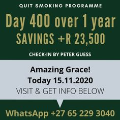 Quit400 Celebration - It's that time again to celebrate over 1 year quit on nicotine (+400 days). Thanks for all the encouragement from family, friends & fans!