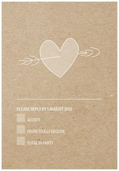 Wedding Invitation & RSVP Modern Eco Natural by TheLovelyLetters, $15.00