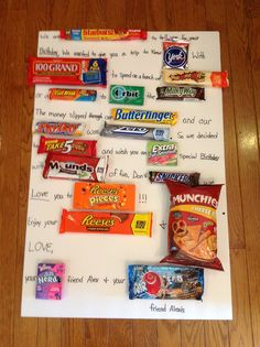Birthday Candy Posters Cards Presents For Teens Present Diy