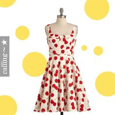 セレブ愛用者多数 ☆ModCloth☆ Pull Up a Cherry Dress