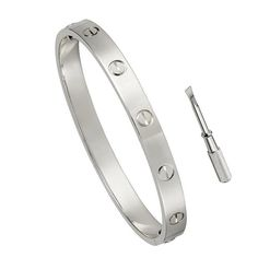 Stainless Steel Screw Head Oval Bangle Bracelet........I want these in ( 6.5in ) $39.00 Rose Gold & White Gold Love them!!!
