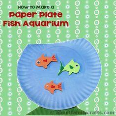 Paper Plate Fish Aquarium