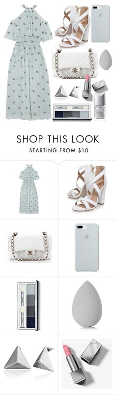 """""""Untitled #130"""" by eslem-molla ❤ liked on Polyvore featuring Temperley London, Miss KG, Chanel, ETUÍ, Clinique, beautyblender, Burberry and Christian Dior"""