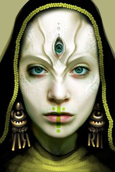 From time to time Apophis has a third eye usually when they are blending their order and chaos forms
