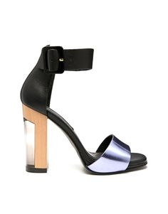 Miista Lily Black/Lavender Heeled Sandals