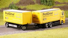 "Herpa Art #906302 MAN TGA XXL interchangeable curtain canvas trailer ""MAN Profidrive"".  1:87. H0. Photo ProModelism. www.facebook.com/groups/ProModelismCom  #ProModelism #ПроМоделизм #Про_Моделизм #Моделизм #Моделист #Модель #Масштаб #Scale #Scales #Herpa"