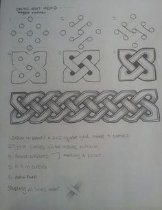 Celtic knot-awesome, now it's not so terrifying to create:)