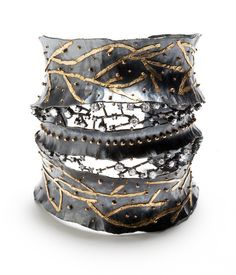 Bongsang Cho - Winter Night Bracelet Sterling Silver, 18KT gold