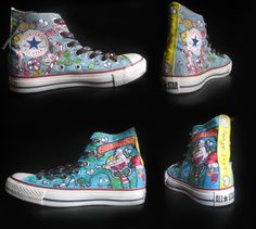 i love the idea of having the marvelous misadventures of flapjack stuff painted on my shoes!