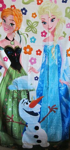 Disney Frozen Anna Elsa and Olaf Beach Towel