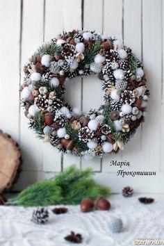 Вінок новорічний ′Сніжний хлопок′...