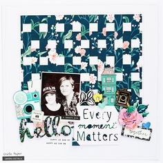 Crate Paper | Scrapbook Layout with woven background