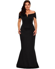 35909f7faf Lalagen Women s Plus Size Off Shoulder Long Formal Party Dress Evening Gown