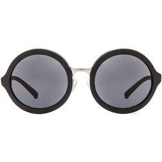 3.1 phillip lim Circle Sunglasses ($252) ❤ liked on Polyvore featuring accessories, eyewear, sunglasses, glasses, matte sunglasses, circular lens sunglasses, circular sunglasses, circle sunglasses and acetate glasses
