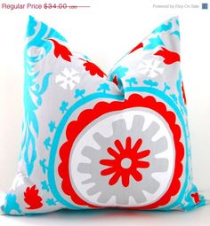 SALE Decorative Throw Pillow Covers Suzani by FestiveHomeDecor, $27.20