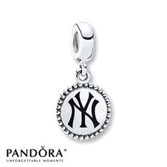 Pandora Dangle Charm New York Yankees Sterling Silver