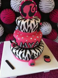 @Angie Robertson @Danielle Cleveland   All   i am going to say is that I probably wouldnt be upset if I got this for my birthday. lol barbie zebra cake