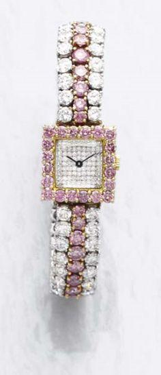 PHILLIPS : CH060208, David Morris, A Pink Diamond and Diamond Wristwatch