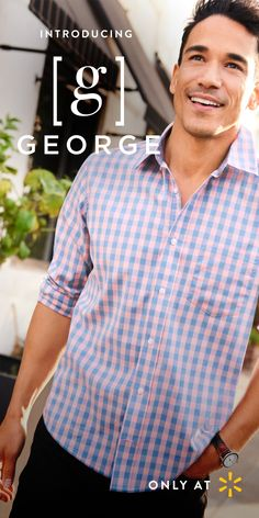 Roll up your sleeves and take on the day in this Men's Long Sleeve Stretch Poplin Button Down Shirt in an eye-catching pattern and Men's Stacked Cargo Shorts with Belt. That's how easy getting dressed should be. Imagine a wardrobe full of quality clothing you can rely on. That's what George Men's apparel is all about. Smart styles and solid craftsmanship that bring out your best. From modern fashions to shoes and accessories, you'll find everything you need for a complete outfit at Walmart.