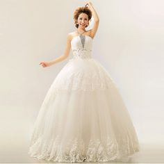 Find More Wedding Dresses Information about 2015 new hot sale  luxury sexy backless elegant  beach  Bra lace plus size white beading wedding dress strapless,High Quality lace dress plus size,China lace princess wedding dresses Suppliers, Cheap lace t shirt dress from Playful beauty department store on Aliexpress.com