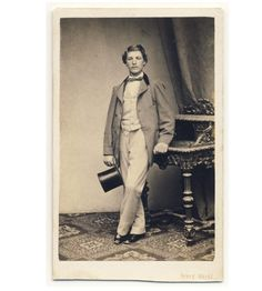 Handsome Young Man Fine Fashion Top Hat CDV Photo 1860s Vienna | eBay