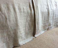 New to CustomLinensHandmade on Etsy: Tailored linen bedskirt natural linen bed skirts shabby chic bedding tailored linen dust ruffle linen dust ruffle linen bedskirt (137.00 USD)