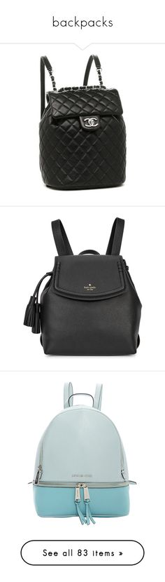 """backpacks"" by cbbh on Polyvore featuring bags, backpacks, backpack, day pack backpack, chanel backpack, chanel bags, rucksack bags, daypack bag, flap backpack and real leather backpack"