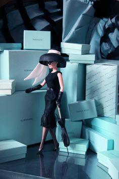 Audrey Hepburn Barbie, Audrey Hepburn Photos, Audrey Hepburn Style, Audrey Hepburn Breakfast At Tiffanys, Aubrey Hepburn, Tiffany & Co., Tiffany Party, Tiffany Theme, George Peppard