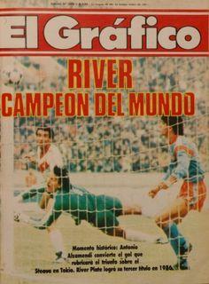 1986 Antonio Alzamendi, River Plate Campeon del Mundo Sports Magazine, Champions League, Carp, Soccer Stuff, Ariel, Rugby, Tapas, Posters, Football
