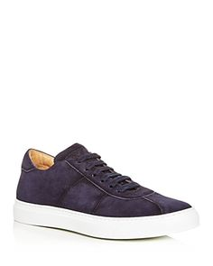 To Boot New York Men's Charger Suede Low-Top Sneakers Men - Bloomingdale's Calf Leather, Suede Leather, Low Top Sneakers, To Boot New York, New York Mens, Blue Suede, Leather Sneakers, Calves, Men's Shoes
