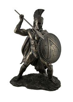 Greek Goddess Statue, Spartan Warrior, Spartan Helmet, Statue Tattoo, Greek Statues, Decorative Accessories, Lion Sculpture, Bronze Sculpture, Shopping