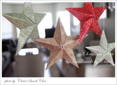 Claire's paper craft: 3D Christmas Star- tutorials