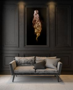 Golden monkey from the Animal Kingdom collection by Fotontwerp. Interior design photo by YKvision.