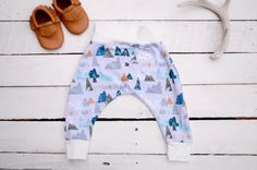 ADVENTURE trendy baby leggings, BABY harem pants, cloth diaper pants, Baby…