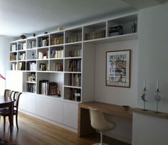 1000 images about projets essayer on pinterest for Bibliotheque avec bureau integre