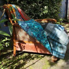 Shabbie — Boho Blue Vintage Kantha Throw