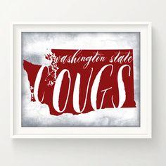 Washington State University COUGS  / 8 x 10 by EdmondsonbyDesign
