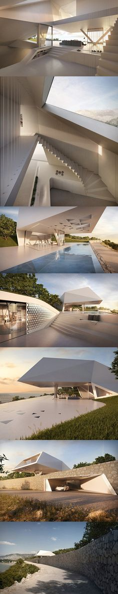 This is Not a Spacecraft, Just a Real Futuristic Home, Villa F was designed by Germany-based Hornung and Jacobi Architecture - TechEBlog