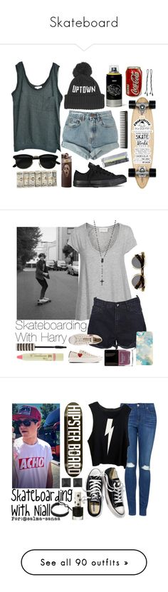 """Skateboard"" by mackie-3233 ❤ liked on Polyvore featuring American Vintage, ONLY NY, Isabel Marant, Levi's, Converse, BOBBY, GHD, OneTeaspoon, Topshop and Pixi"