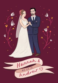 New illustration up on my blog! This one's a special one - a gift for my best friend's wedding! ❤ http://emmelineillustration.blogspot.co.uk/2016/09/my-best-friends-wedding.html  #wedding #weddingillustration #illustration #personalised